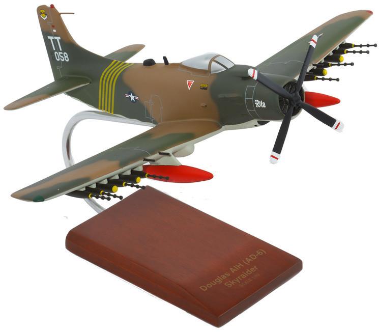 A1H Skyraider USAF Model Airplane