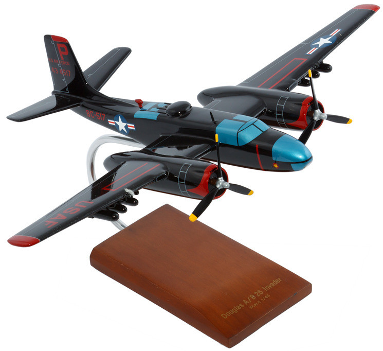 B-26C Invader 1/48 Wood Model Aircraft