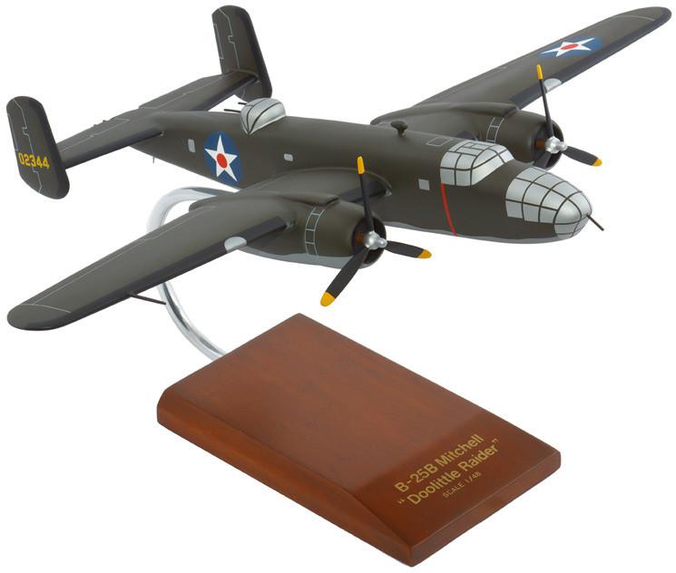 B-25B Mitchell Doolittle Raiders 1/48 Wood Model Aircraft