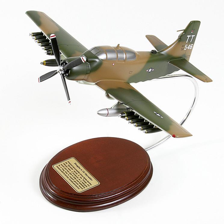 Douglas A-1E Skyraider USAF 1/48 Desktop Model Airplane