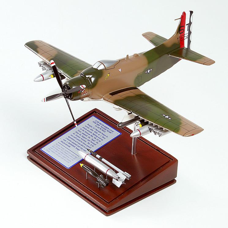 A-1H Skyraider (Spad Dad) Wood Model Plane