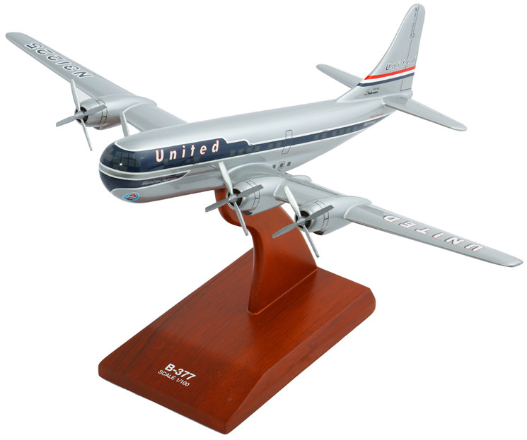 B-377 Stratocruiser United 1/100 Model Airplane
