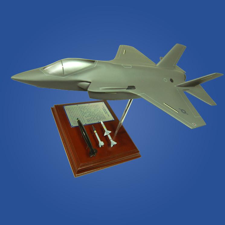 F-35A Lightning II 1/49 Wood Plane Model with Scale Ammunition