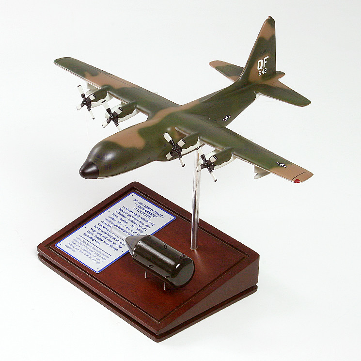 MC-130 Combat Talon I 1/122 Wood Model Aircraft with Scale Ammunition