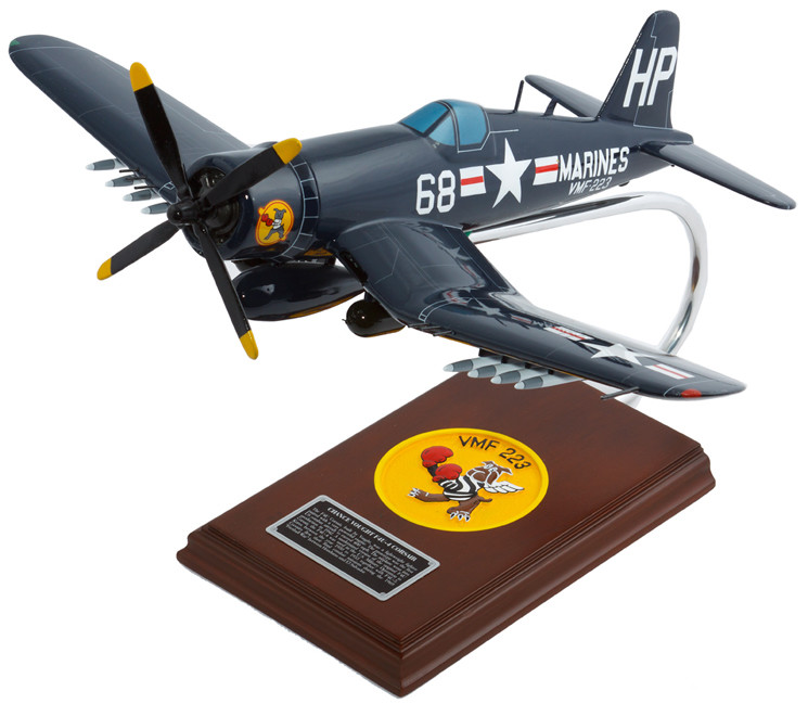 F4U-4 Corsair USN 1/32 Wood Model Aircraft