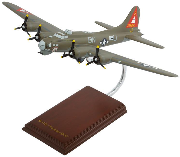 B-17G Flying Fortress (Thunderbird) 1/60 Wood Model Aircraft