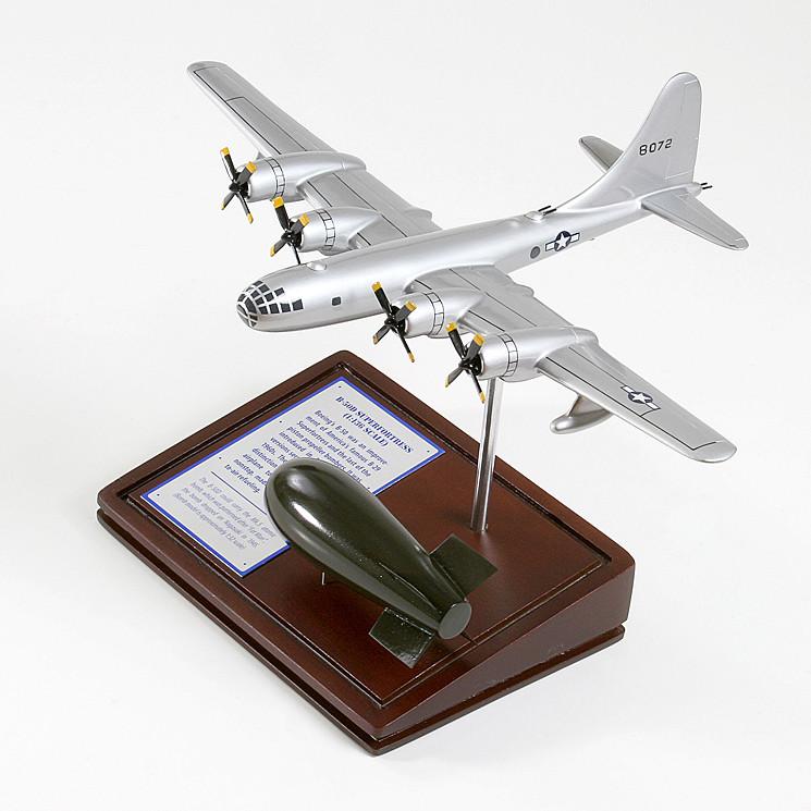 B-50 Superfortress Wood Model Plane