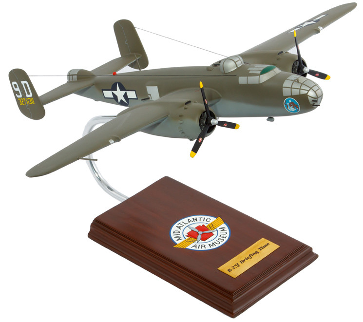 B-25J Mitchell (Briefing Time) 1/41 Wood Model Aircraft