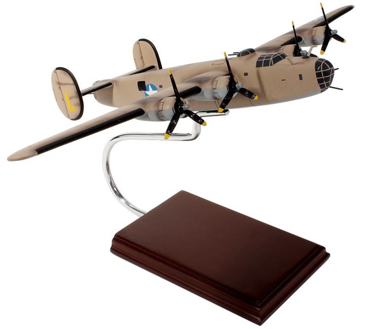 B-24D Liberator Ploesti Raid (Pink) 1/62 Wood Model Aircraft