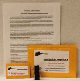 Mag Storage Solutions Neodymium Magnet Mounting Kit MG-MSSNMK-1