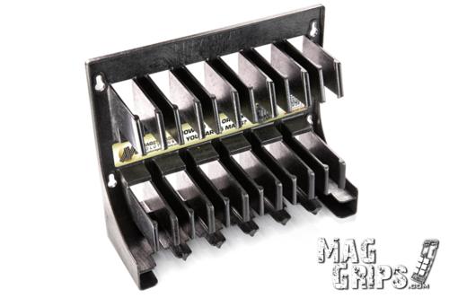 Mag Storage Solutions AR 5.56 .223 Magazine Rack With Magazines MG-MSSBLK-6M