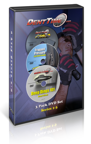 3 Pack Dent Time PDR Training video Set Series 1, 2 and 3 W/ Files (Download)