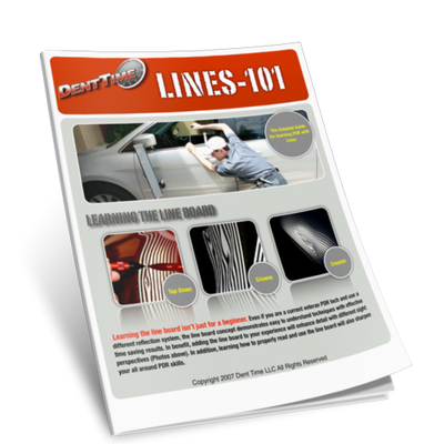 PDR Line Board Manual eBook- Paintless Dent Repair / Removal Training Tutorial
