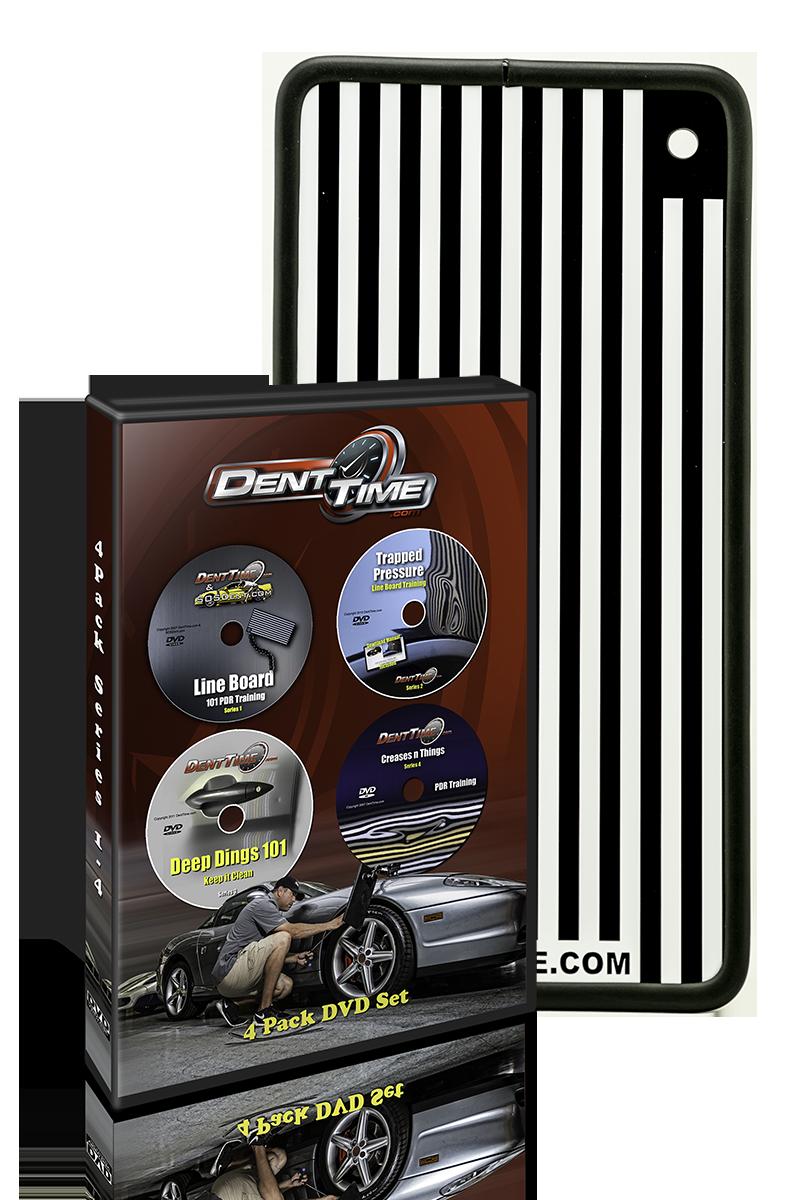 Dent Time 4 Pack DVD Hard Copy Set w/ Line Board