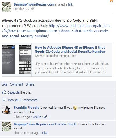 AT&T/Verizon/Sprint iPhone Activation with Zip Code & Social Security  Number SSN [Premium]