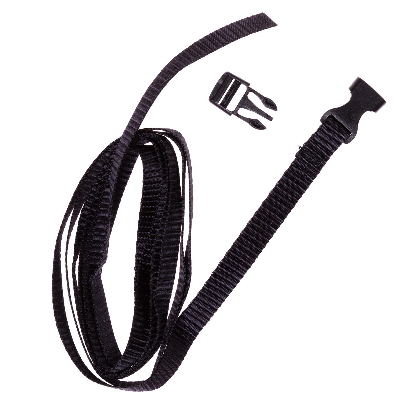 Nylon straps, 2 pieces (150 cm) with side release buckle to secure your seat pad.