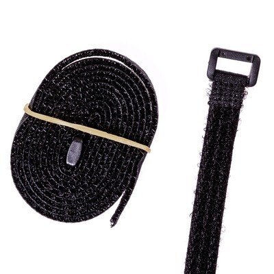 Velcro straps, 2 pieces (120 cm) with buckle to secure your seat-pad.