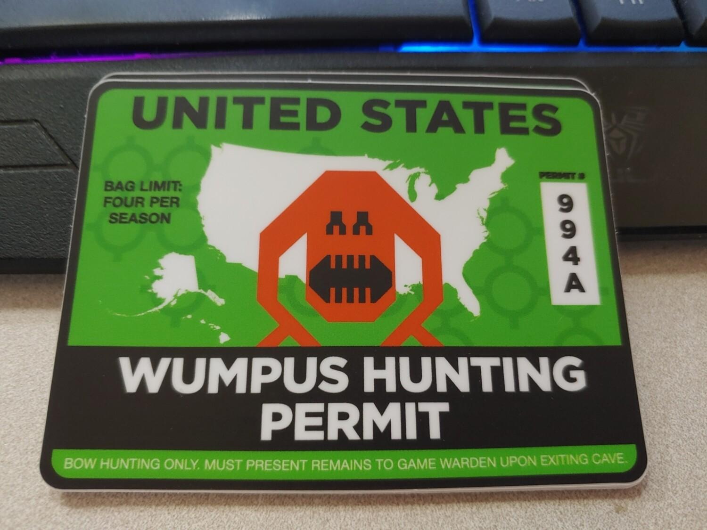 Wumpus hunting permit sticker