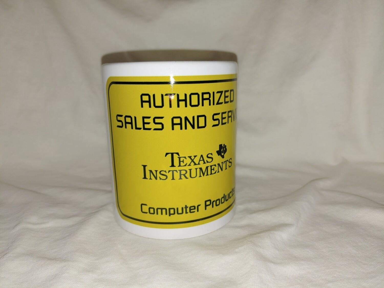TI authorized Service Ceramic Coffee Cup Mug 11oz Texas Instruments