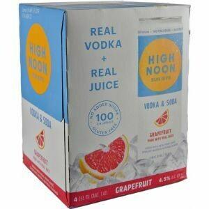 High Noon Grapefruit Vodka Soda 4pk cans