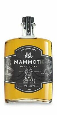 Mammoth Borrowed Time 12yr Rye Whiskey 750ml