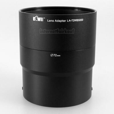 Kiwifotos LA-72WB5000 - Adapter Tubus für Samsung WB-5000, 72mm