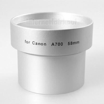 Adapter Tubus für Canon A700 A710 A720 IS, 58mm