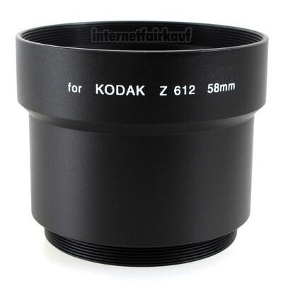 Adapter Tubus für Kodak Z612 58mm