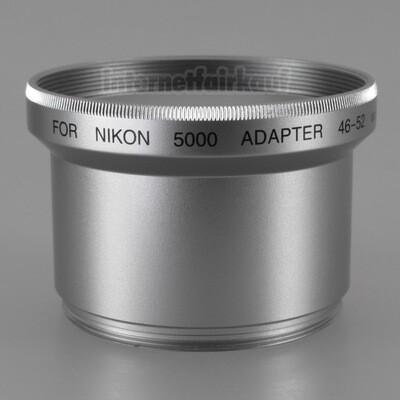 Adapter Tubus für Nikon Coolpix 5000, silber