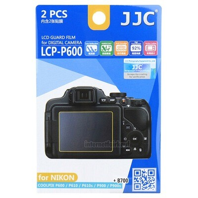 JJC LCP-P600 - LCD Display Schutzfolien für Nikon Coolpix P600 P610 P900 B600 B700