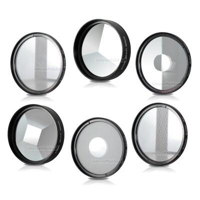 6-fach Set Effektfilter passend für Olympus TG-1 TG-2 TG-3 TG-4 TG-5 TG-6