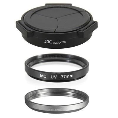 Zubehörset passend für Leica D-Lux 6  + Panasonic LX7 - Adapter Filter Deckel