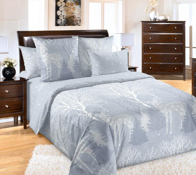 Комплект постельного белья из перкаля Снежная долина