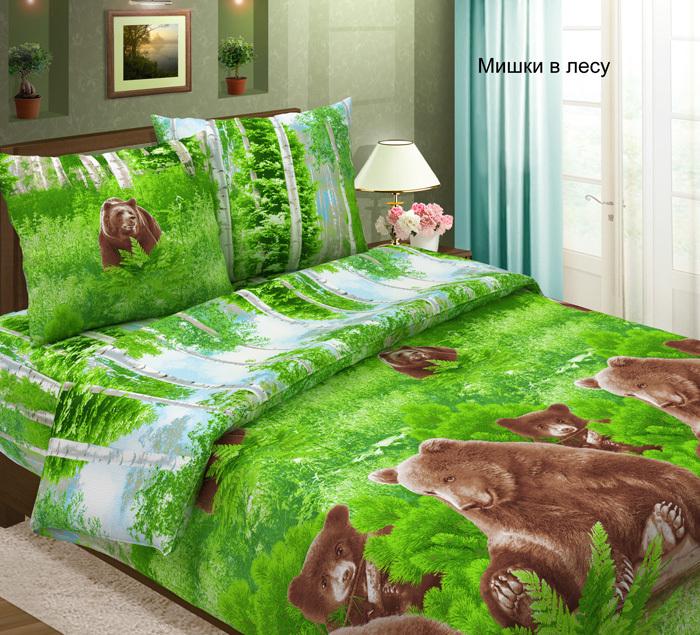 Комплект постельного белья из бязи Мишки в лесу