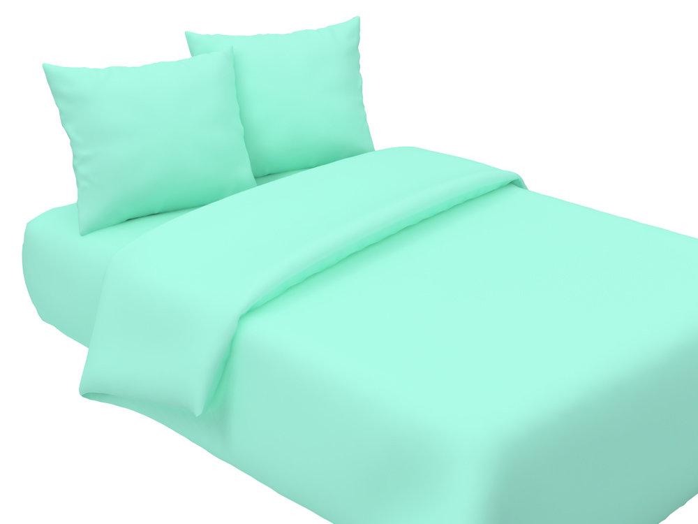 Комплект постельного белья из поплина  Мята