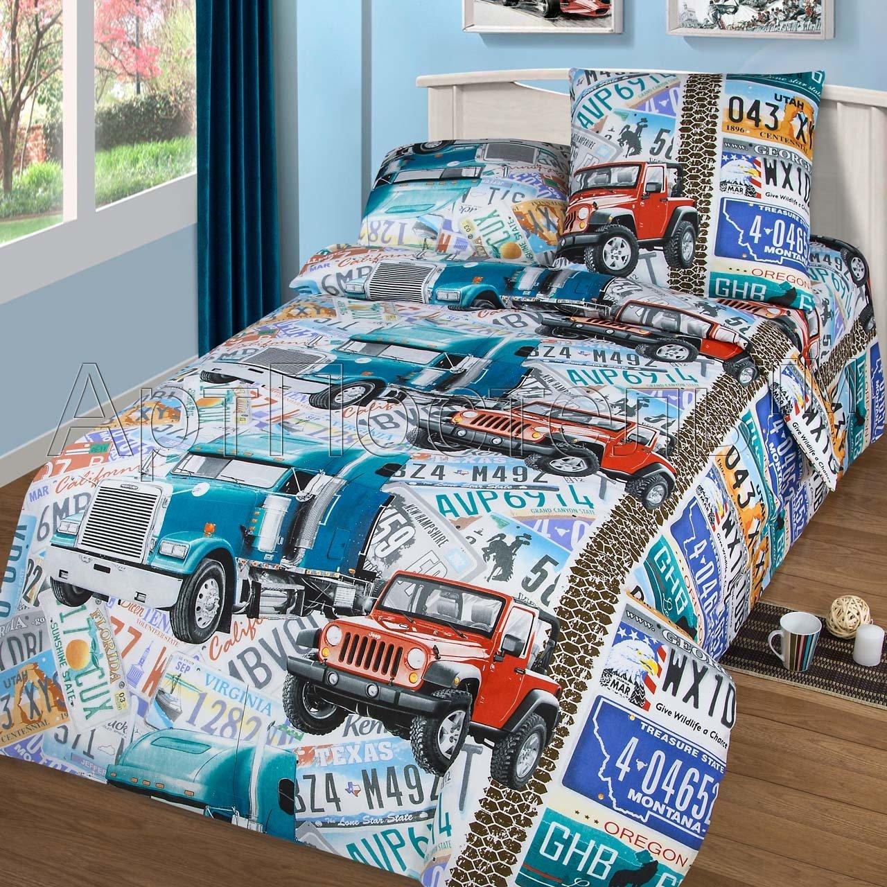 Комплект постельного белья из бязи Автобан