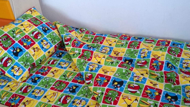 1,5 спальный КПБ из поплина  Angry Birds