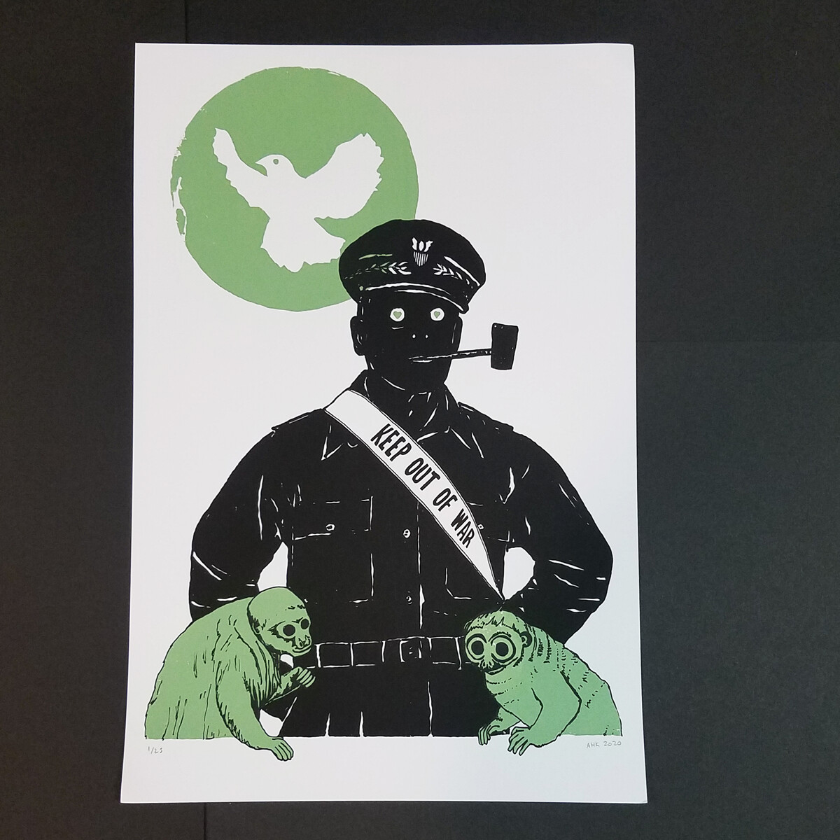 KEEP OUT OF WAR poster