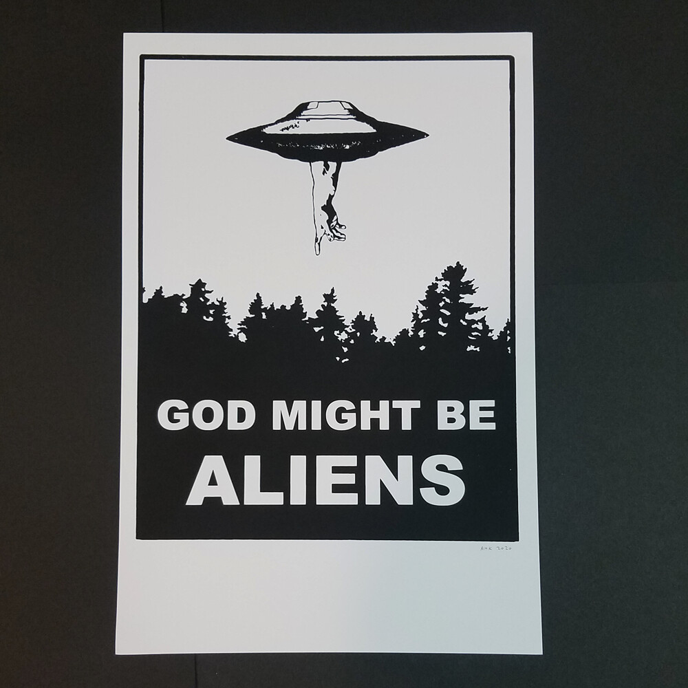 GOD MIGHT BE ALIENS poster