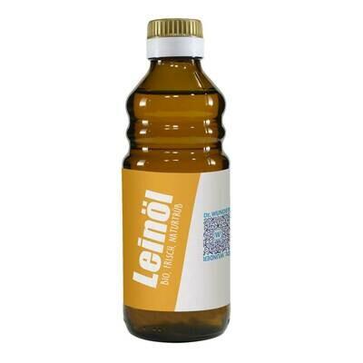 Frisches Bio-Leinöl