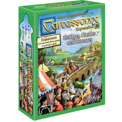 Carcassonne Expansion 8 Bridges Castles Bazaars
