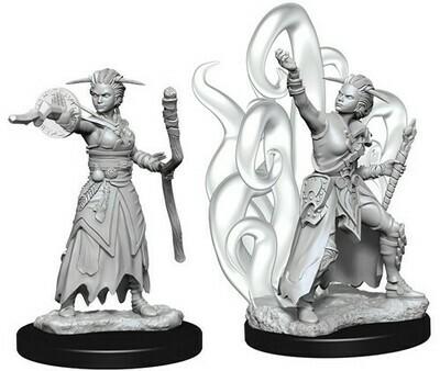 D&D Female Human Warlock