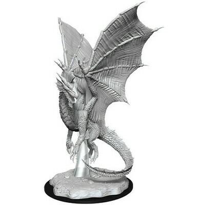 D&D Miniatures Young Silver Dragon