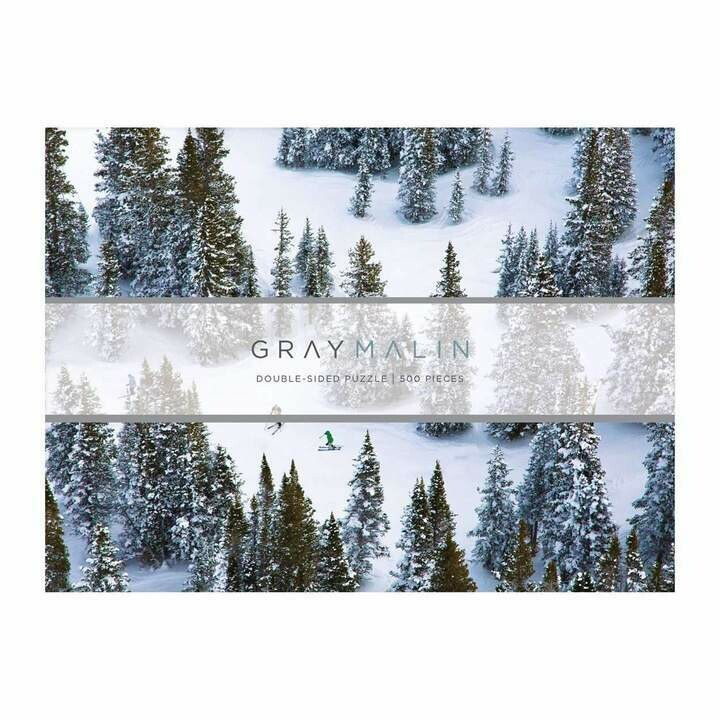 2 Sided Gray Malin Snow Puzzle