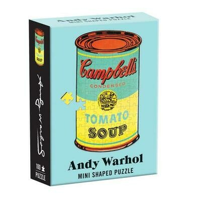 Shaped Mini Andy Warhol Campbell Soup Puzzle