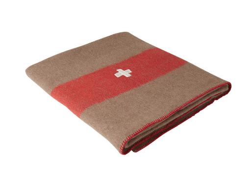 Swiss Army Wool Blanket - Brown