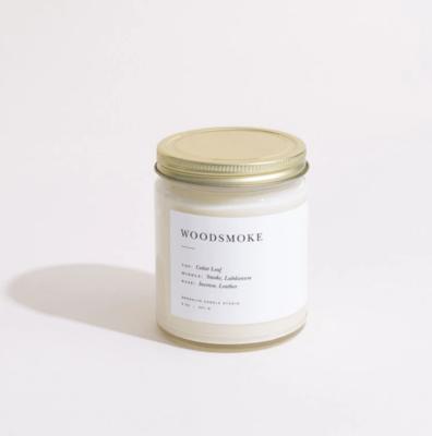 Minimalist Woodsmoke Candle