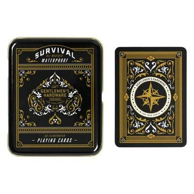 Survival Playing Cards in Tin