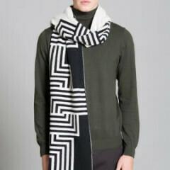 Deco Blanket Black White
