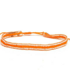 Love Light Beaded Bracelet - Orange